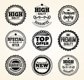 Hand drawn product promotion badges Royalty Free Stock Image