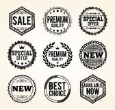 Hand drawn product promotion badges Stock Image
