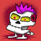 Hand drawn punk skull Royalty Free Stock Photo