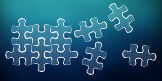 Hand-drawn puzzle pieces game sketch Stock Photography