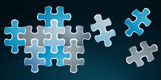 Hand-drawn puzzle pieces game sketch Royalty Free Stock Photos