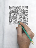 Hand drawn QR CODE Royalty Free Stock Photos