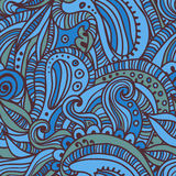 Hand drawn  quaint seamless pattern Stock Images