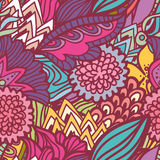 Hand drawn quaint seamless pattern Royalty Free Stock Image