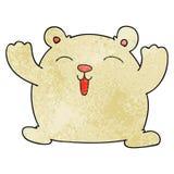Hand drawn quirky cartoon funny polar bear. Illustrated hand drawn quirky cartoon funny polar bear stock illustration