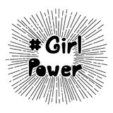 Girl power quote vector illustration