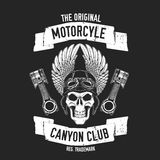 Hand drawn quote about motorcycles and bikers Royalty Free Stock Photos