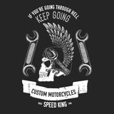 Hand drawn quote about motorcycles and bikers Royalty Free Stock Images