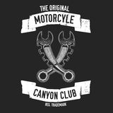 Hand drawn quote about motorcycles and bikers Stock Photos