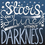 Hand drawn quote with stars Royalty Free Stock Images