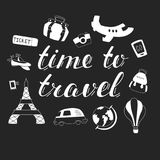 Hand Drawn Quote About Travel and Adventure. Royalty Free Stock Images