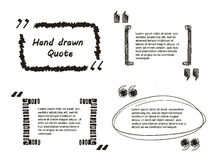 Hand drawn Quote. Vector Illustration of Quote hand drawn for Design, Website, Background, Banner. Note bubble symbol Element Template royalty free illustration