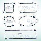 Hand drawn quotes Stock Photos