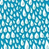 Hand-drawn rain seamless pattern. Royalty Free Stock Photography