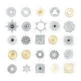 Hand drawn rays and starburst design elements Royalty Free Stock Photography