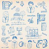 Hand Drawn Real Estate Icon Set Stock Image