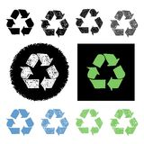 Hand drawn recycling symbol Stock Photography