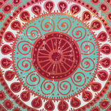 Hand drawn  red  background  in indian style Royalty Free Stock Image