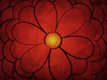 Hand drawn red flower on paper Stock Photography