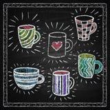 Hand drawn restaurant menu elements. Royalty Free Stock Photography