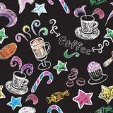 Hand drawn restaurant menu elements. Royalty Free Stock Image