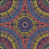 Hand drawn  retro lace ethnic seamless pattern Royalty Free Stock Photos