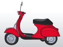 Hand drawn retro scooter. Vector Royalty Free Stock Photos