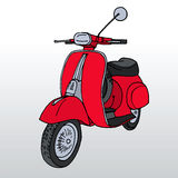 Hand drawn retro scooter. Vector. Elements Stock Images
