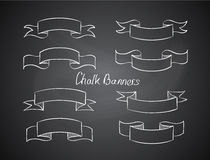 Hand-drawn retro scribble banners Stock Photography