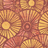 Hand drawn retro shabby seamless pattern Royalty Free Stock Image