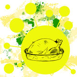 Thanksgiving turkey background Royalty Free Stock Photo