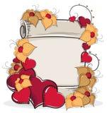 Hand-drawn Retro Valentine card  Royalty Free Stock Photo
