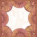 Hand drawn retro  watercolor tribal  frame Stock Photography
