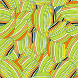 Hand-drawn retro waves pattern, wavy background. Royalty Free Stock Image