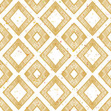 Hand drawn rhomb beige seamless pattern. Stock Photography