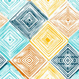 Hand drawn rhombus seamless pattern Royalty Free Stock Photography