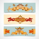 Hand Drawn Ribbons Banners Royalty Free Stock Photography