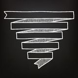 Hand drawn ribbons on the chalkboard Royalty Free Stock Photography
