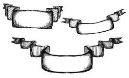 Hand drawn ribbons Royalty Free Stock Photo
