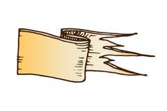 Hand drawn ribbons vector illustration. Royalty Free Stock Photography