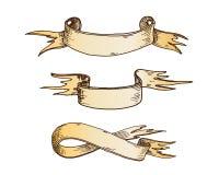 Hand drawn ribbons vector illustration. Stock Photo