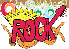 Hand drawn rock text background Stock Photo