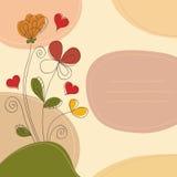 Hand drawn romantic background Royalty Free Stock Photo