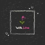 Hand drawn romantic card Stock Photo