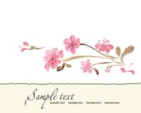 Hand drawn  of romantic floral invitation. Vector Stock Photos