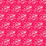 Hand drawn romantic pattern. With hearts Stock Photography
