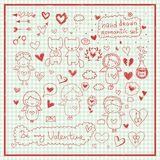 Hand drawn romantic vector set vector illustration