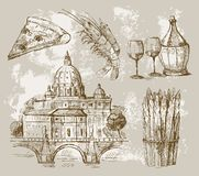 Hand drawn of Rome. Vector illustration with hand drawn of Rome Royalty Free Stock Photos