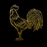 Hand drawn rooster Royalty Free Stock Image