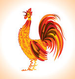 Hand-drawn rooster. Royalty Free Stock Photo